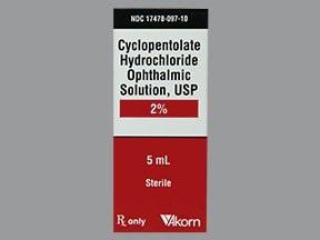 cyclopentolate 2 % eye drops