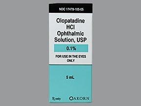 olopatadine 0.1 % eye drops