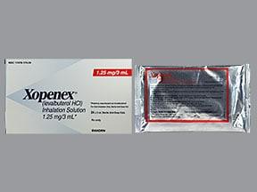 Xopenex 1.25 mg/3 mL solution for nebulization