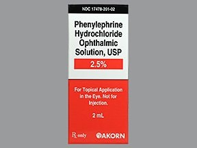 phenylephrine 2.5 % eye drops