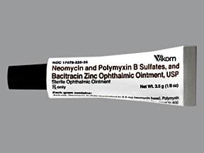 neomycin-bacitracin-polymyxn 3.5 mg-400 unit-10,000 unit/gram eye oint