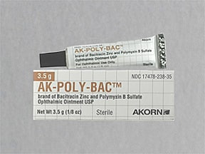 AK-Poly-Bac 500 unit-10,000 unit/gram eye ointment