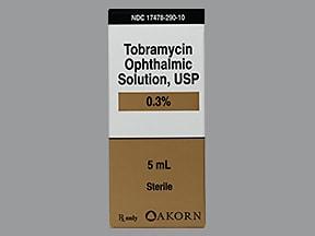 tobramycin 0.3 % eye drops