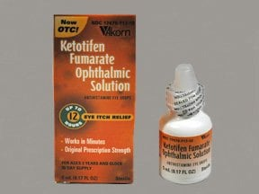 Ketotifen Ophthalmic (Eye) : Uses, Side Effects