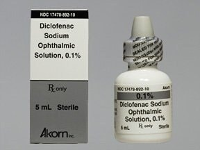 diclofenac 0.1 % eye drops