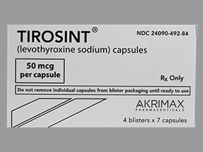 Tirosint 50 mcg capsule