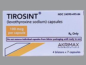 Tirosint 100 mcg capsule