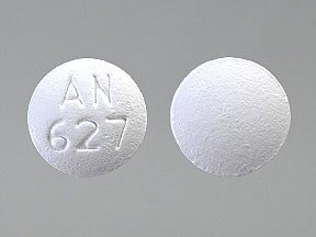 "This medicine is a white, round, film-coated, tablet imprinted with ""AN  627""."
