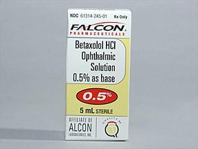 betaxolol 0.5 % eye drops