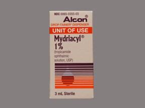 Mydriacyl 1 % eye drops