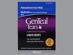 GenTeal Tears Moderate (PF) 0.1 %-0.3 % drops in a dropperette