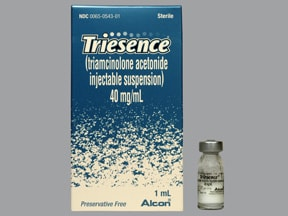 Triesence (PF) 40 mg/mL intraocular suspension
