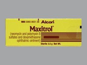 Maxitrol 3.5 mg/g-10,000 unit/g-0.1 % eye ointment