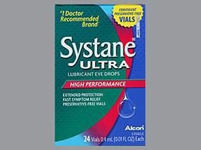Systane Ultra (PF) 0.4 %-0.3 % eye drops in a dropperette