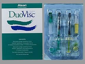 DuoVisc Visco Elastic 3 %-4 %(0.5 mL) 1 %(0.55 mL) intraocular syringe