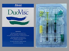 DuoVisc Visco Elastic 3 %-4 %(0.35 mL) 1 %(0.4 mL) intraocular syringe