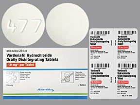 vardenafil 10 mg disintegrating tablet