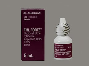 FML Forte 0.25 % eye drops,suspension