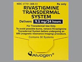 rivastigmine 9.5 mg/24 hour transdermal patch