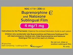 buprenorphine 4 mg-naloxone 1 mg sublingual film