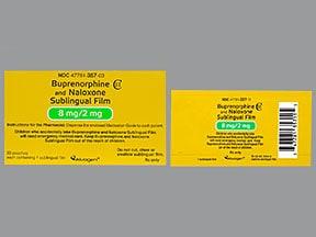 buprenorphine 8 mg-naloxone 2 mg sublingual film