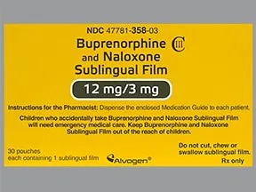 buprenorphine 12 mg-naloxone 3 mg sublingual film