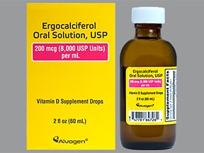 ergocalciferol (vitamin D2) 200 mcg/mL (8,000 unit/mL) oral drops