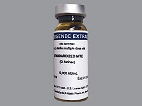 allergenic extract-mite,D.farinae 10,000 unit/mL injection solution