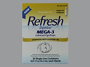 Refresh Optive Mega-3 (PF) 0.5 %-1 %-0.5 % eye drops in a dropperette