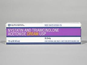 nystatin-triamcinolone 100,000 unit/g-0.1 % topical cream