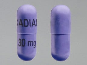 Kadian 30 mg capsule,extended release