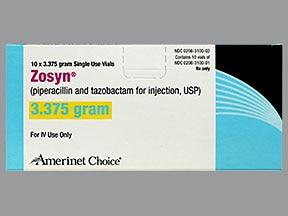 Zosyn 3.375 gram intravenous solution