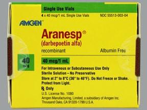 Aranesp 40 mcg/mL (in polysorbate) Injection