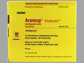 Aranesp 60 mcg/0.3 mL (in polysorbate) injection syringe