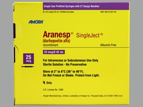 Aranesp 25 mcg/0.42 mL (in polysorbate) injection syringe