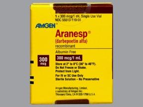 Aranesp 300 mcg/mL (in polysorbate) Injection