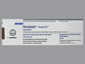 Neupogen 480 mcg/0.8 mL injection syringe
