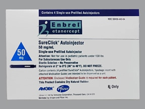 Enbrel SureClick 50 mg/mL (0.98 mL) subcutaneous pen injector