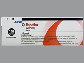 Repatha Syringe 140 mg/mL subcutaneous syringe