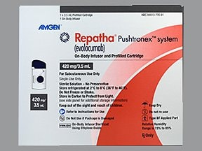 Repatha Pushtronex 420 mg/3.5 mL subcutaneous wearable injector