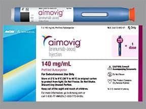Aimovig Autoinjector 140 mg/mL subcutaneous auto-injector