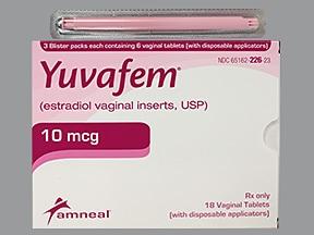 Yuvafem 10 mcg vaginal tablet