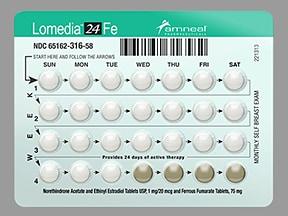 Lomedia 24 Fe 1 mg-20 mcg (24)/75 mg (4) tablet