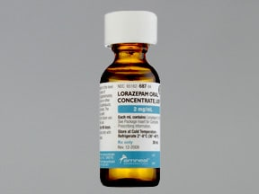lorazepam 2 mg/mL oral concentrate