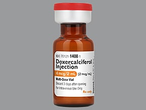 doxercalciferol 4 mcg/2 mL intravenous solution
