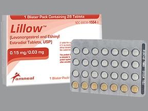 Lillow (28) 0.15 mg-0.03 mg tablet