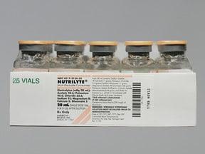 Nutrilyte 25 mEq-40.6 mEq-5 mEq/20 mL intravenous solution