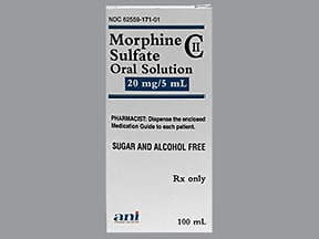 morphine 20 mg/5 mL (4 mg/mL) oral solution