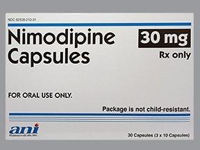nimodipine 30 mg capsule