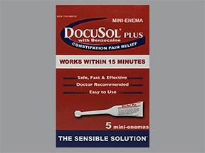 DocuSol Plus 283 mg-20 mg/5 mL enema